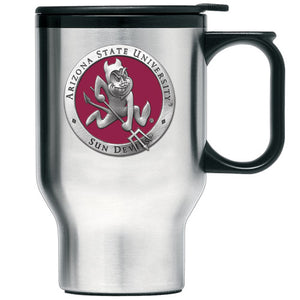 ARIZONA STATE UNIVERSITY SPARKY LOGO TRAVEL MUG