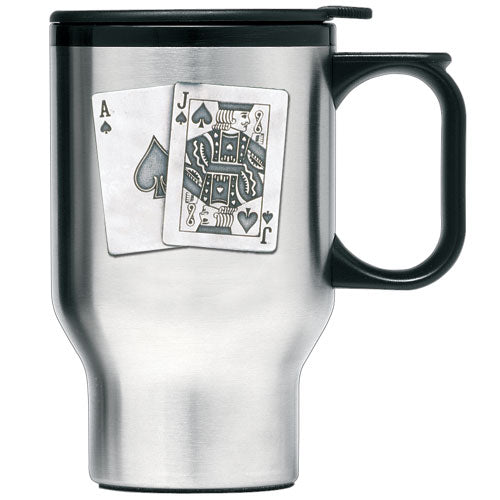 BLACK JACK TRAVEL MUG