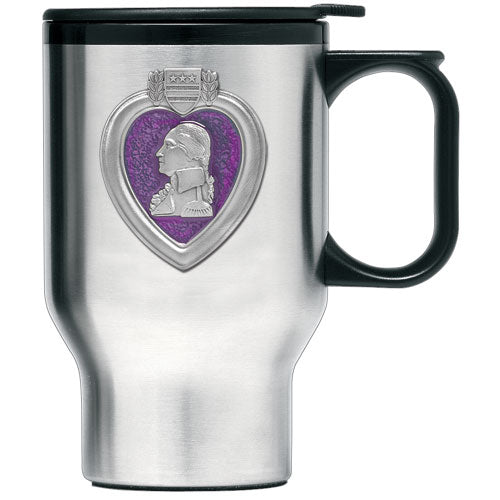 PURPLE HEART TRAVEL MUG
