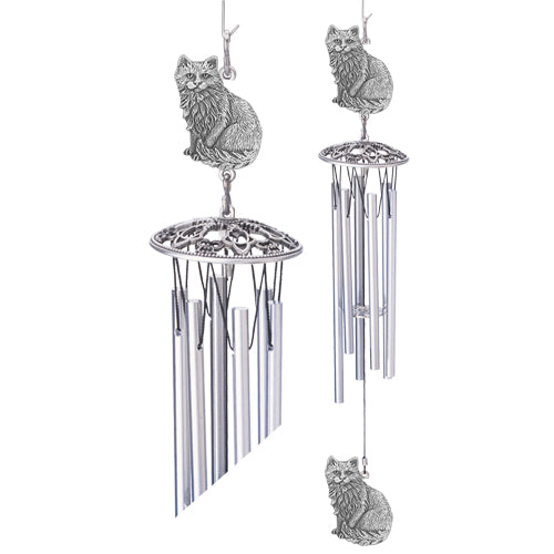 Cat Sitting Wind Chime