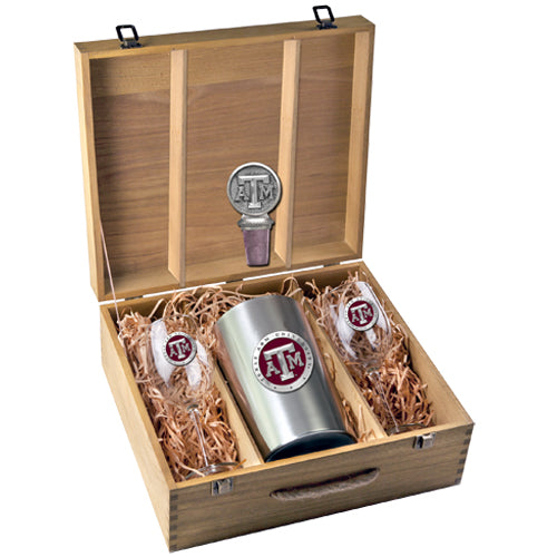 TEXAS A&M UNIVERSITY WINE BOX SET
