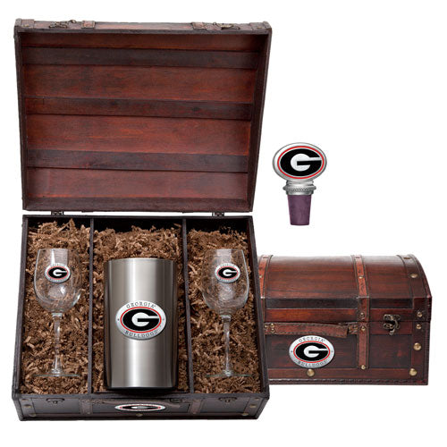 UNIVERSITY OF GEORGIA WINE CHEST SET