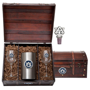 AUBURN UNIVERSITY WINE CHEST SET