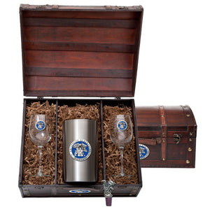 UNIVERSITY OF KENTUCKY WINE CHEST SET