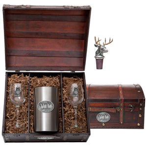WHITETAIL DEER WINE CHEST SET