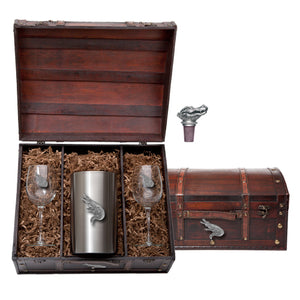 ALLIGATOR WINE CHEST SET