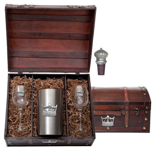 CROWN WINE CHEST SET