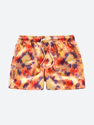 OAS _ Yellow Tie Dye Swimshorts Boy Outfit