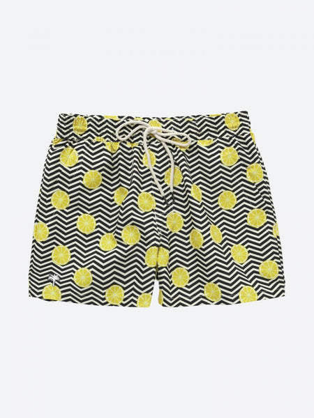 OAS _ Black Lemon Swimshorts