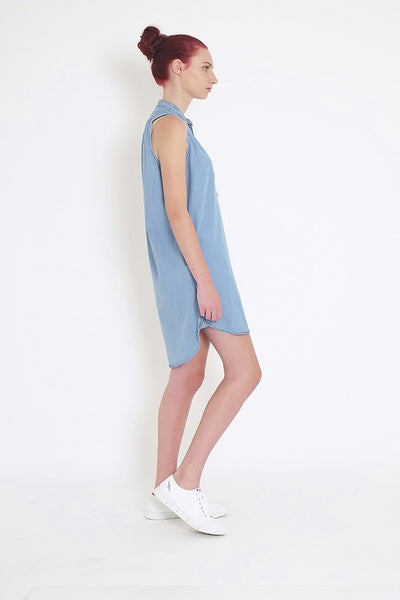 Ethel Sleeveless Shirt Dress