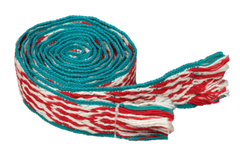 The STRIPES in Turquoise, Red & Natural