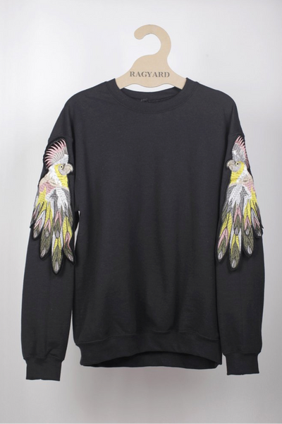 RAGYARD_Parrot Sweat_Black