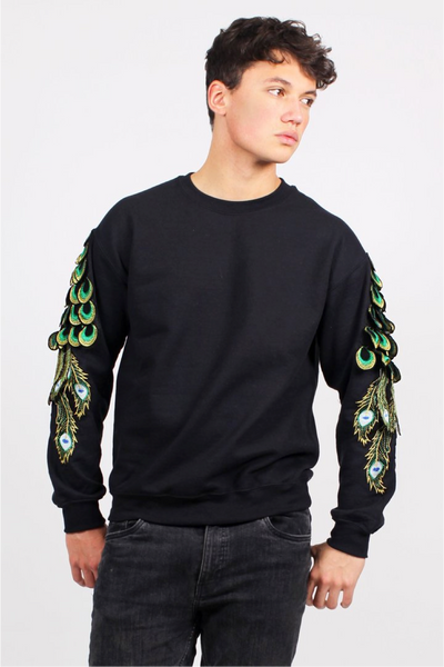 RAGYARD_Peacock Sweat_Black