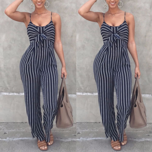 2019 Newest Fashion Hot Sexy Ladies Women Clubwear Playsuit Bodysuit Party Jumpsuit Romper High Quality Sleeveless Long Trousers BLJU2019015