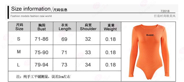 Women O-neck bandage bodysuit autumn winter bodysuits female body long sleeves bodycon jumpsuit  BLBO2019023
