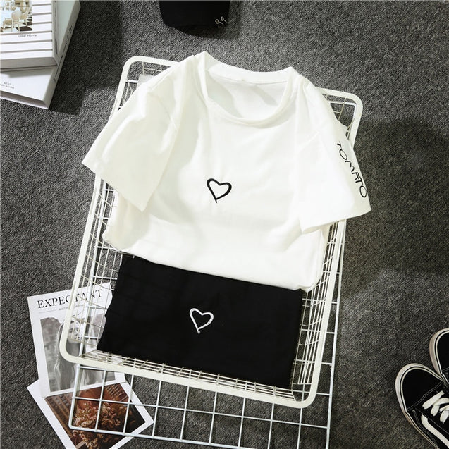 2018 Fashion Harajuku T Shirt Women Letter Printed Hip Hop T Shirt Cotton O Neck Short Sleeve Korean Style Tops Tee  BLTT2019004