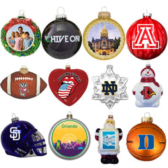 Custom Promotional Glass Ornaments