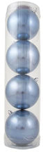 "4"" (100mm) Large Commercial Shatterproof Ball Ornament, Polar Blue, Case, 48 Pieces - Christmas by Krebs Wholesale"