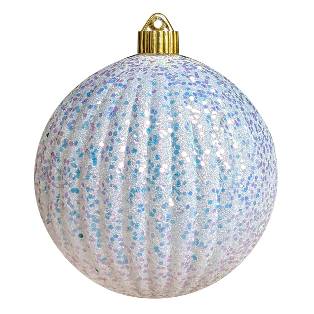 "6"" (150mm) Shatterproof Shapes Ornament Assortment, Silver/White/Blue, 1/Ea, 16/Case, 16 Pieces - Christmas by Krebs Wholesale"