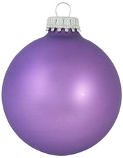 "2 5/8"" (67mm) Ball Ornaments, Silver Caps, Amethyst, 8/Box, 12/Case, 96 Pieces - Christmas by Krebs Wholesale"