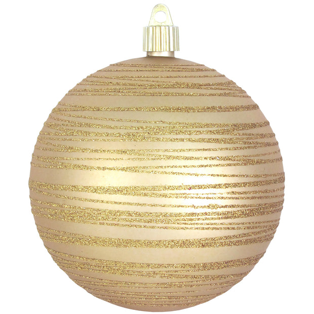 "Gold Dust 4 3/4"" (120mm) Shatterproof Ball with Gold Tangles, Case, 24 Pieces - Christmas by Krebs Wholesale"