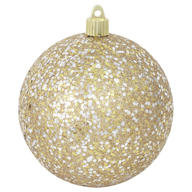 "Gold / Silver Glitz 4 3/4"" (120mm) Shatterproof Ball, Case, 24 Pieces - Christmas by Krebs Wholesale"