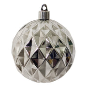 "4"" (100mm) Commercial Shatterproof Ball Ornament, Shiny Looking Glass Diamond, 4 per Bag, 12 Bags per Case, 48 Pieces - Christmas by Krebs Wholesale"