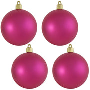 "4"" (100mm) Commercial Shatterproof Ball Ornament, Matte Glamour, 4 per Bag, 12 Bags per Case, 48 Pieces - Christmas by Krebs Wholesale"