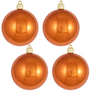 "4"" (100mm) Commercial Shatterproof Ball Ornament, Shiny Mandarin, 4 per Bag, 12 Bags per Case, 48 Pieces - Christmas by Krebs Wholesale"