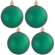 "4"" (100mm) Commercial Shatterproof Ball Ornament, Matte Shamrock, 4 per Bag, 12 Bags per Case, 48 Pieces - Christmas by Krebs Wholesale"