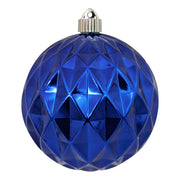 "6"" (150mm) Commercial Shatterproof Ball Ornament, Shiny Azure Blue Diamond, 2 per Bag, 6 Bags per Case, 12 Pieces - Christmas by Krebs Wholesale"