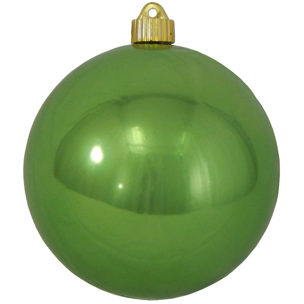 "6"" (150mm) Commercial Shatterproof Ball Ornament, Shiny Limeade Green, 2 per Bag, 6 Bags per Case, 12 Pieces"