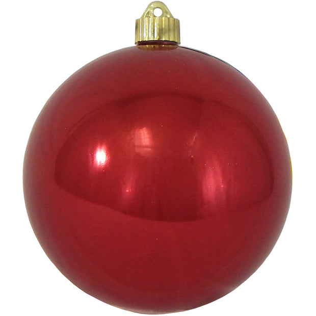 "6"" (150mm) Commercial Shatterproof Ball Ornament, Shiny Sonic Red, 2 per Bag, 6 Bags per Case, 12 Pieces"