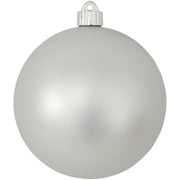 "6"" (150mm) Commercial Shatterproof Ball Ornament, Matte Dove Gray, 2 per Bag, 6 Bags per Case, 12 Pieces"