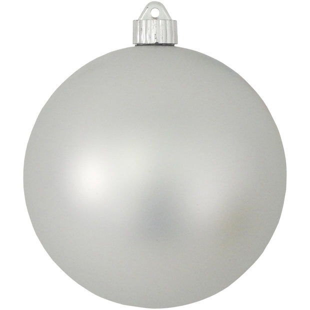 "6"" (150mm) Commercial Shatterproof Ball Ornament, Matte Dove Gray, 2 per Bag, 6 Bags per Case, 12 Pieces - Christmas by Krebs Wholesale"