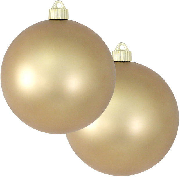 "6"" (150mm) Commercial Shatterproof Ball Ornament, Matte Gold Dust, 2 per Bag, 6 Bags per Case, 12 Pieces"