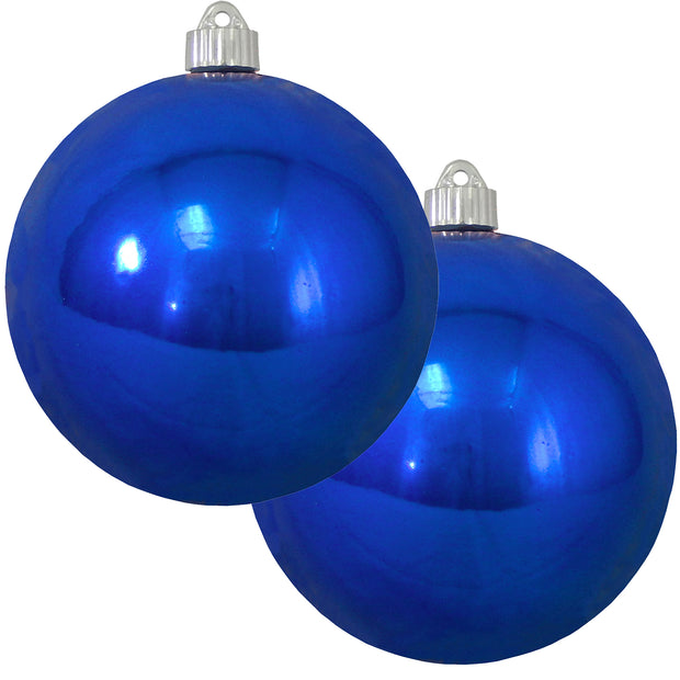 "6"" (150mm) Commercial Shatterproof Ball Ornament, Shiny Azure Blue, 2 per Bag, 6 Bags per Case, 12 Pieces - Christmas by Krebs Wholesale"