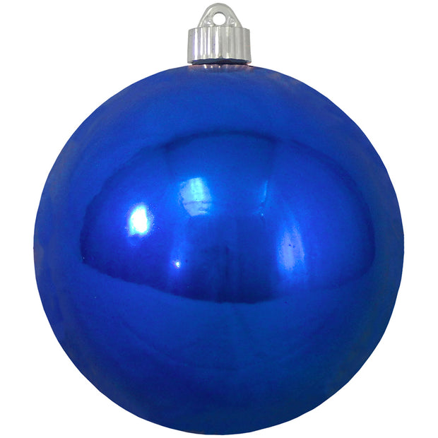 "6"" (150mm) Commercial Shatterproof Ball Ornament, Shiny Azure Blue, 2 per Bag, 6 Bags per Case, 12 Pieces"