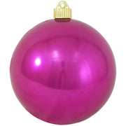 "6"" (150mm) Commercial Shatterproof Ball Ornament, Shiny Tutti Frutti Pink, 2 per Bag, 6 Bags per Case, 12 Pieces - Christmas by Krebs Wholesale"