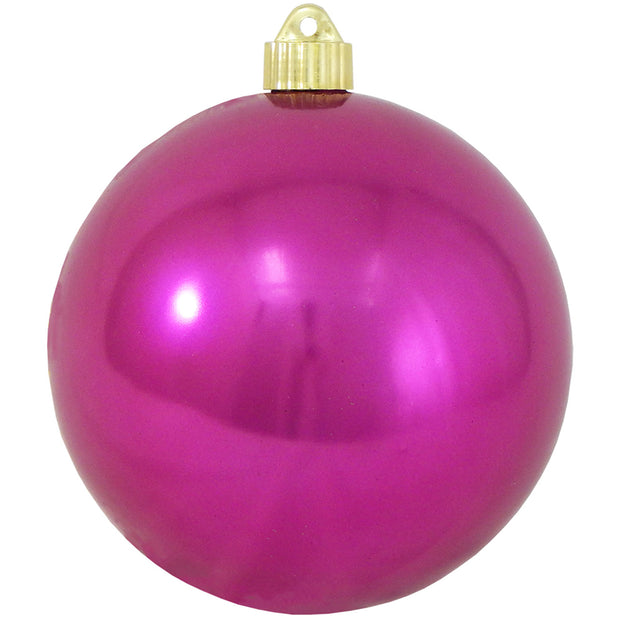 "6"" (150mm) Commercial Shatterproof Ball Ornament, Shiny Tutti Frutti Pink, 2 per Bag, 6 Bags per Case, 12 Pieces"