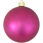 "6"" (150mm) Commercial Shatterproof Ball Ornament, Matte Glamour Pink, 2 per Bag, 6 Bags per Case, 12 Pieces - Christmas by Krebs Wholesale"