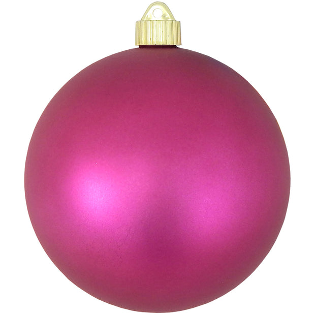 "6"" (150mm) Commercial Shatterproof Ball Ornament, Matte Glamour Pink, 2 per Bag, 6 Bags per Case, 12 Pieces"