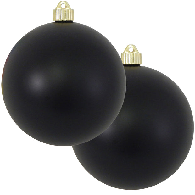 "6"" (150mm) Commercial Shatterproof Ball Ornament, Matte Soot Black, 2 per Bag, 6 Bags per Case, 12 Pieces - Christmas by Krebs Wholesale"