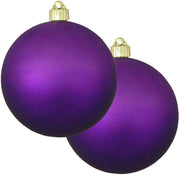 "6"" (150mm) Commercial Shatterproof Ball Ornament, Matte Diva Purple, 2 per Bag, 6 Bags per Case, 12 Pieces - Christmas by Krebs Wholesale"