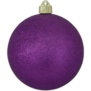 "6"" (150mm) Commercial Shatterproof Ball Ornament, Purple Glitter, 2 per Bag, 6 Bags per Case, 12 Pieces - Christmas by Krebs Wholesale"