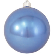 "6"" (150mm) Commercial Shatterproof Ball Ornament, Shiny Polar Blue, 2 per Bag, 6 Bags per Case, 12 Pieces - Christmas by Krebs Wholesale"