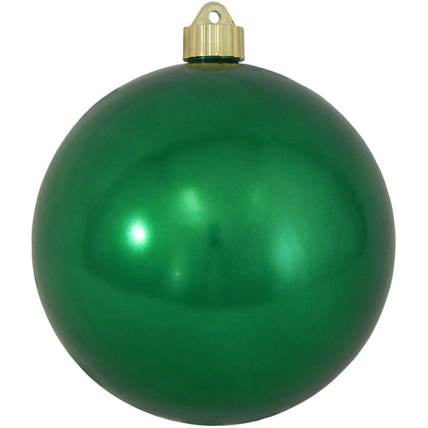 "6"" (150mm) Commercial Shatterproof Ball Ornament, Shiny Blarney Green, 2 per Bag, 6 Bags per Case, 12 Pieces - Christmas by Krebs Wholesale"