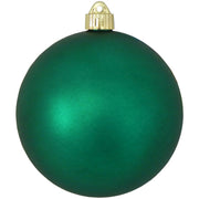 "6"" (150mm) Commercial Shatterproof Ball Ornament, Matte Shamrock Green, 2 per Bag, 6 Bags per Case, 12 Pieces"