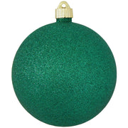 "6"" (150mm) Commercial Shatterproof Ball Ornament, Emerald Green Glitter, 2 per Bag, 6 Bags per Case, 12 Pieces"