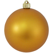 "6"" (150mm) Commercial Shatterproof Ball Ornament, Matte Imperial Gold, 2 per Bag, 6 Bags per Case, 12 Pieces"